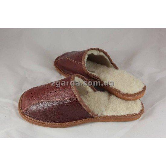 Тапочки кожаные (ТШ 01-25)