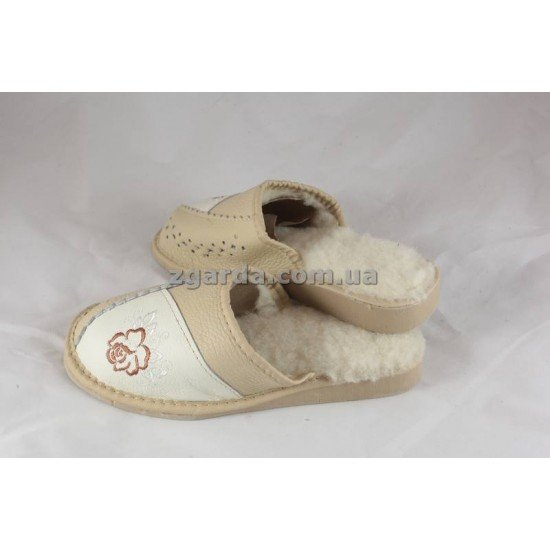 Тапочки кожаные (ТШ 01-28)