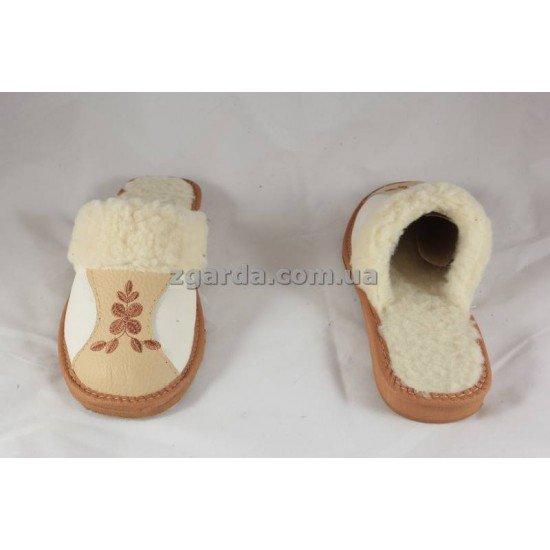 Тапочки кожаные (ТШ 01-30)