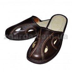 Купить мужские кожаные тапочки - интернет магазин Zgarda