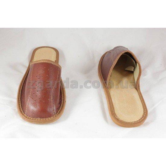 Тапочки кожаные  (ТШ 01-44)