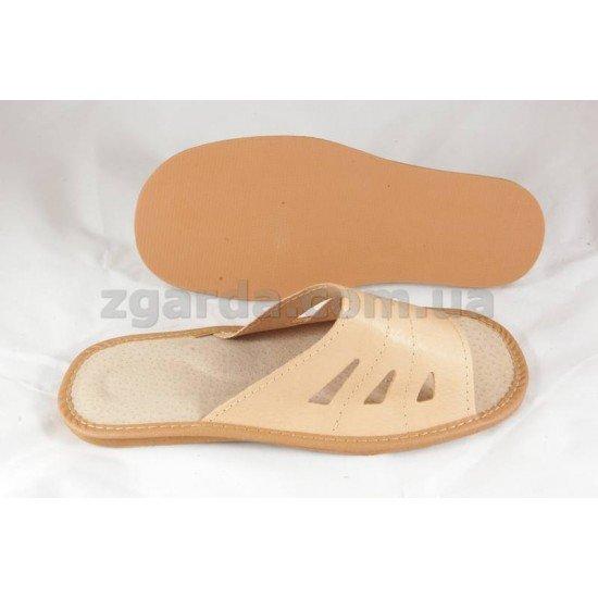 Тапочки кожаные  (ТШ 01-45)