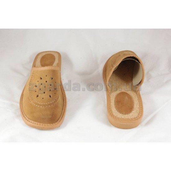 Тапочки кожаные  (ТШ 01-52)