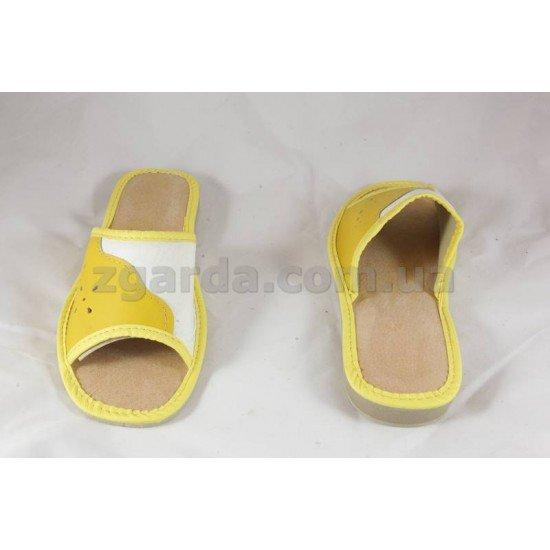 Тапочки кожаные  (ТШ 01-60)