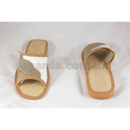 Тапочки кожаные  (ТШ 01-65)