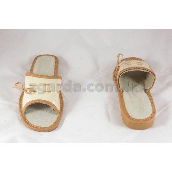 Тапочки кожаные  (ТШ 01-70)
