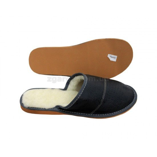 Тапочки кожаные  (ТШ 01-07)