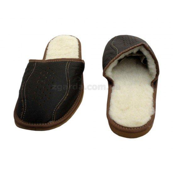 Тапочки кожаные (ТШ 01-26)
