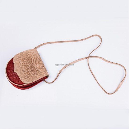 Кожаная сумка 16х16х6(ШС 01-10)