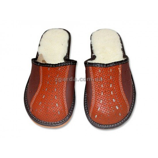 Тапочки кожаные  (ТШ 01-24)
