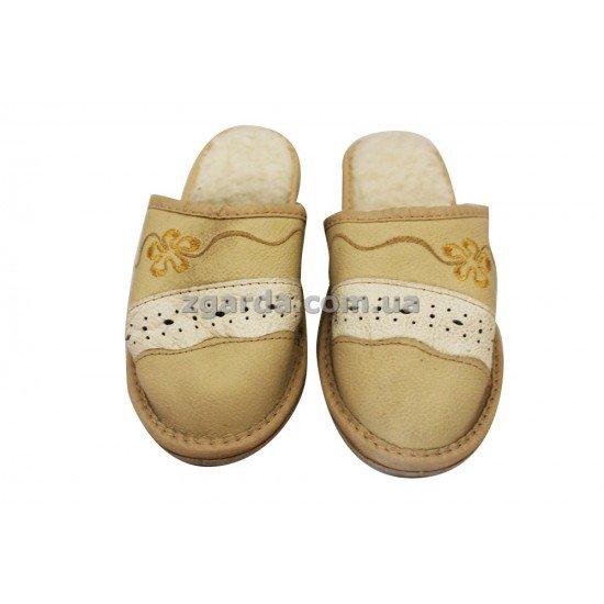 Тапочки кожаные 25х6х7 (ТШ 01-04)