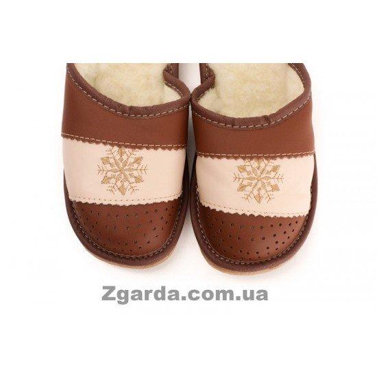 Тапочки кожаные (ТШ 01-02)