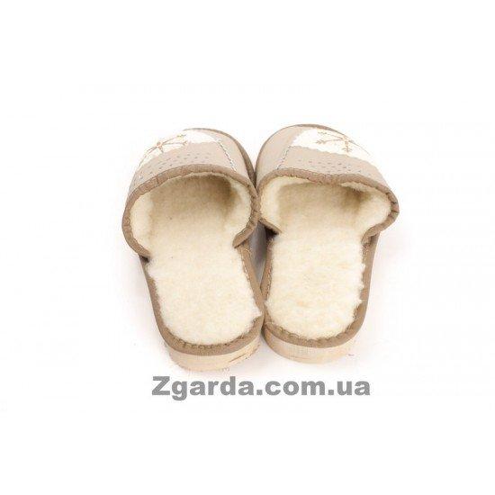 Тапочки кожаные (ТШ 01-31)