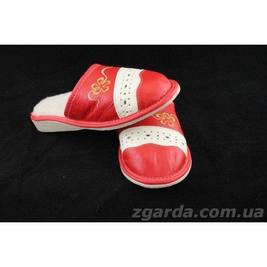 Тапочки кожаные  (ТШ 01-03)