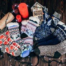 Шерстяные носки и рукавицы